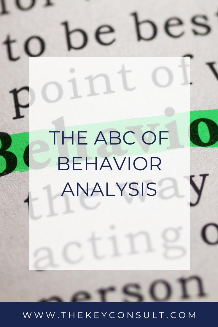 The ABCs of Behavior Analysis