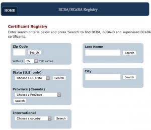 BCBA Registry